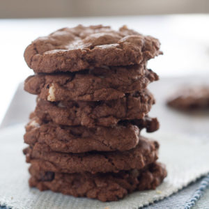 Triple Chocolate Chunk Cookies from JensFavoriteCookies.com - a chocolate lovers dream come true!