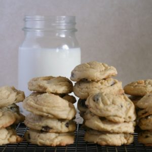 Chocolate Chip Pudding Cookies from JensFavoriteCookies.com -  Pudding makes the cookies SO soft and chewy!