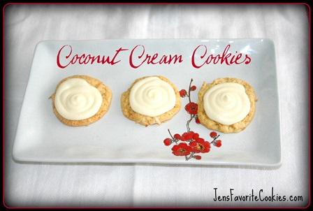 Coconut Cream Cookies from JensFavoriteCookies.com