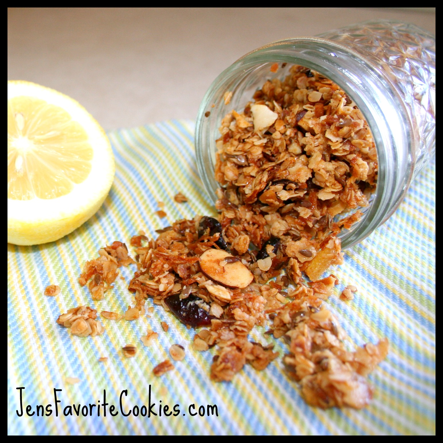 Granola recipe with coconut, ginger, and almonds. This healthy granola ...
