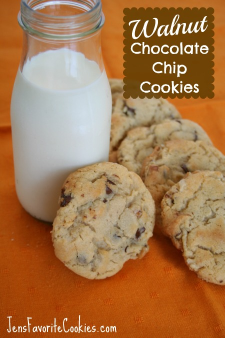 perfect chocolate chip cookie with walnuts