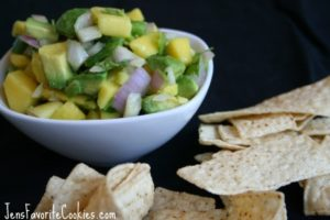 Fruit salsa with mango