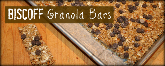 Biscoff Granola Bars featured