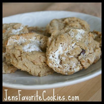 peanut butter marshmallow cookie