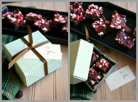 Easy Chocolate Peppermint Fudge from JensFavoriteCookies.com - made with condensed milk, this is the easiest fudge you'll ever have!