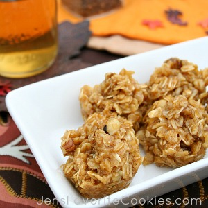 Pumpkin No-Bake Cookies from JensFavoriteCookies.com