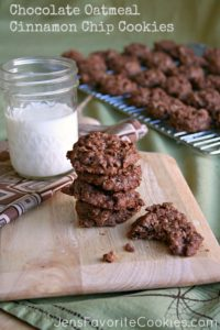 Chocolate Oat Cinnamon Chip Cookie Recipe