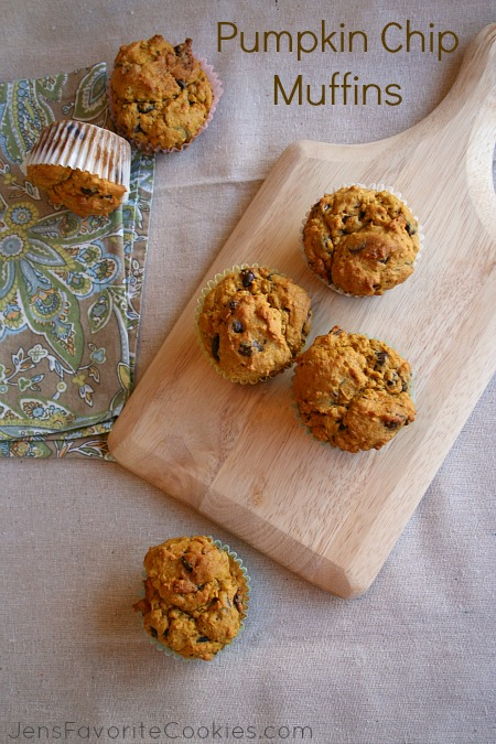 ... chocolate chunk muffin recipe, except with pumpkin it has a little