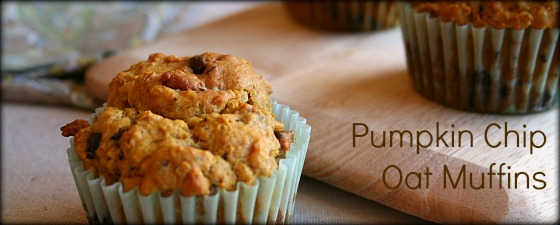Pumpkin Chip Oat Muffins featured