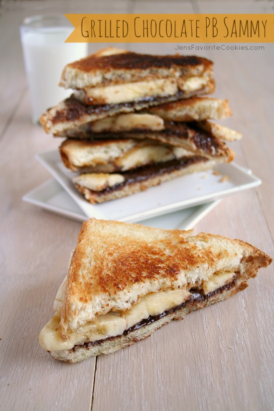 Grilled Chocolate Peanut Butter Sandwich | Jen's Favorite Cookies