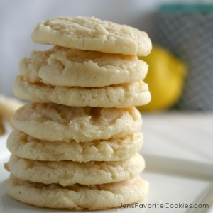 Lemon Sugar Cookies from JensFavoriteCookies.com - a very light lemon flavor makes these cookies a great choice any time!
