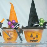 Pumpkin-Fruit-Cups-with-Witch-Hats