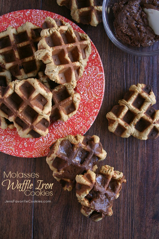 Molasses Waffle Iron Cookies from Jen's Favorite Cookies