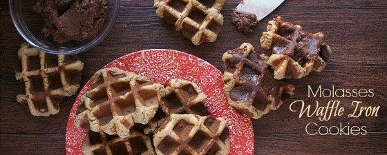 Molasses Waffle Iron Cookies