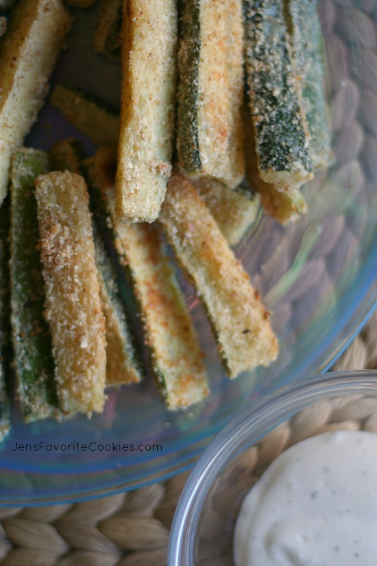 Parmesan Crusted Baked Zucchini Spears