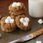 Fluffernutter-Flourless-Peanut-Butter-Marshmallow-Thumbprint-Cookies-2-title