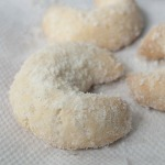 Vanillekipferl - Christmas crescent shaped Vanilla shortcrust cookies