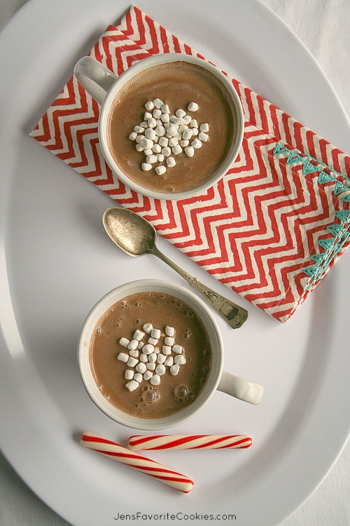 peppermint slow cooker hot cocoa