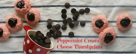 Peppermint Cream Cheese Thumbprints from Jen's Favorite Cookies