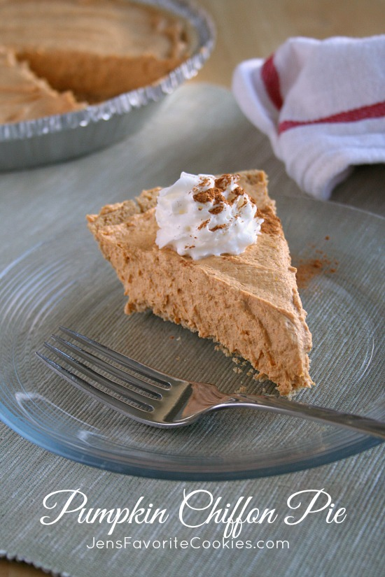 Pumpkin Chiffon Pie from Jen's Favorite Cookies
