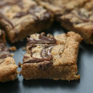 Nutella Swirled Peanut Butter Bars from Jen's Favorite Cookies