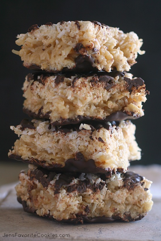 Samoas Rice Krispie Treats from JensFavoriteCookies.com