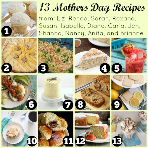 13 Perfect Mothers Day Recipes on JensFavoriteCookies.com