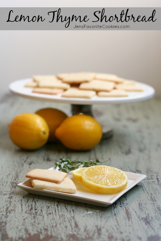 Lemon Thyme Shortbread and 13 Mothers Day Recipes on JensFavoriteCookies.com