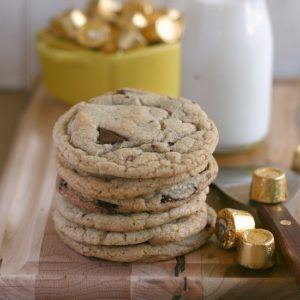 Caramel Stuffed Chocolate Chunk Cookies from JensFavoriteCookies.com
