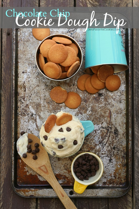 Chocolate Chip Cookie Dough Dip from JensFavoriteCookies