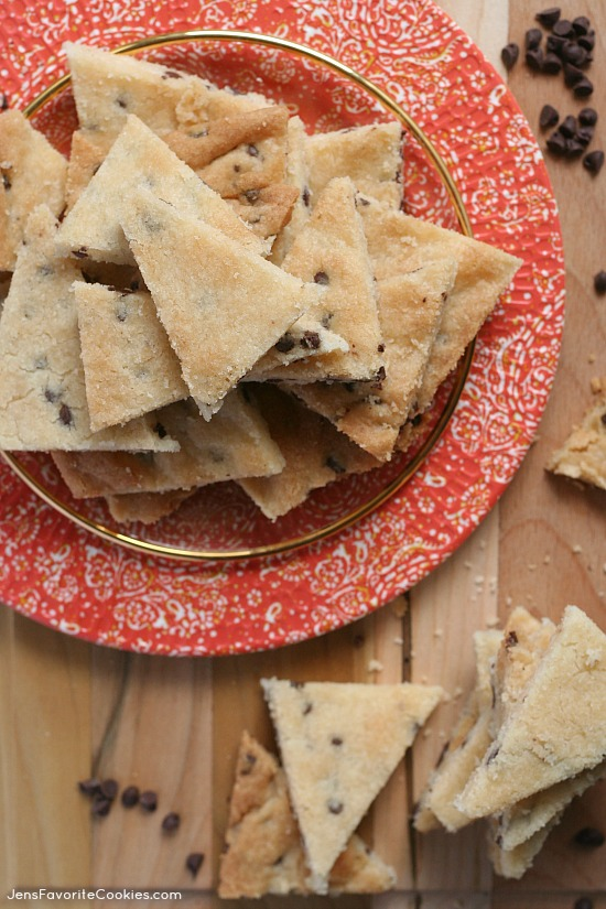 Chocolate Chip Cookie bark from JensFavoriteCookies - great to mix into snacks or ice cream, also fun plain!