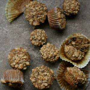 Spiced Zucchini Crumb Muffins from JensFavoriteCookies.com