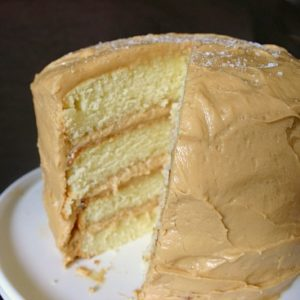 Caramel Layer Cake with Caramel Frosting from JensFavoriteCookies.com