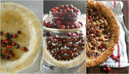 cranberry-pecan-pie-collage