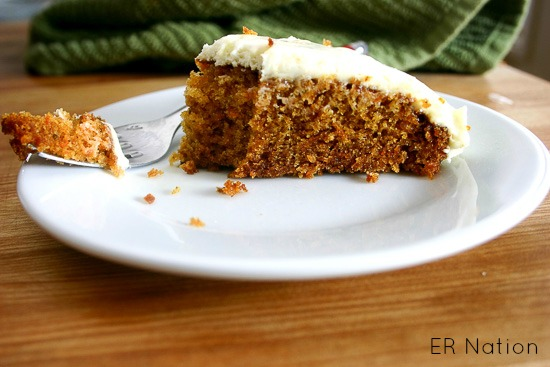 Carrot Cake with Lemon Ginger Cream Cheese Frosting from JensFavoriteCookies.com
