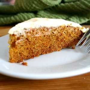 Carrot Cake with Lemon Ginger Cream Cheese Frosting