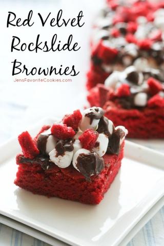 Red Velvet Rockslide Brownies