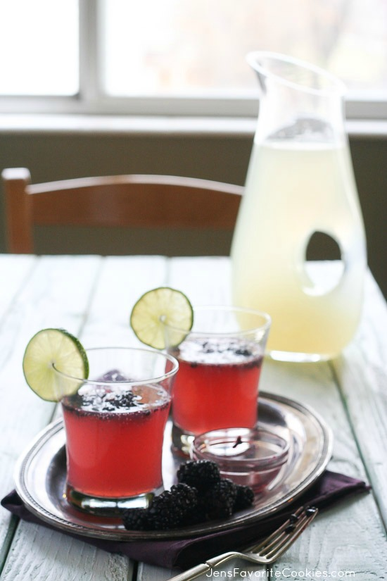 Sparkling Blackberry Limeade | Jen's Favorite Cookies