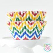 Circus Chevron Cupcake Liners