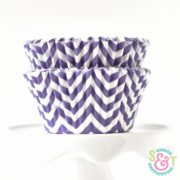 Purple Chevron Cupcake Liners
