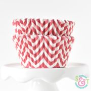 Red Chevron Cupcake Liners