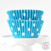 Aqua Dots Cupcake Liners