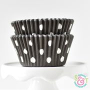 Black Dots Cupcake Liners