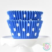 Blue Dots Cupcake Liners