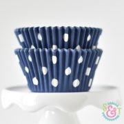 Navy Dots Cupcake Liners