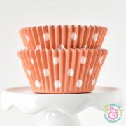 Orange Dots Cupcake Liners