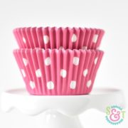 Pink Dots Cupcake Liners