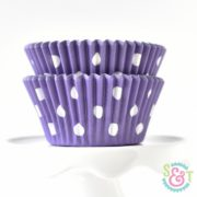Purple Dots Cupcake Liners