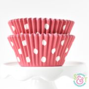 Red Dots Cupcake Liners