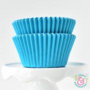 Aqua Solid Cupcake Liners